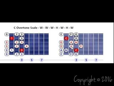 C Overtone scale pattern #1 - Open position