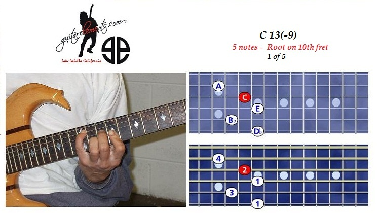 C13(-9) - 5 notes - 9th fret