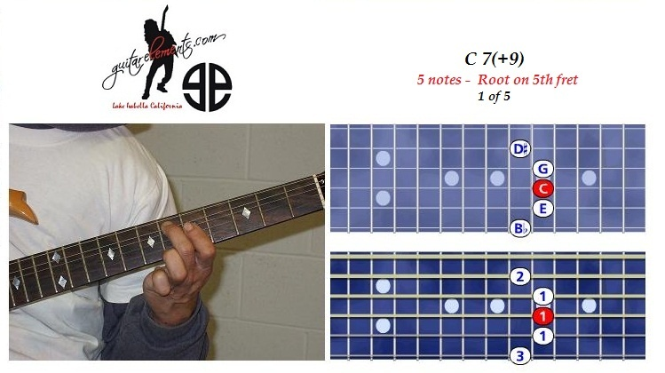 C7+9 - 5 notes - 5th fret