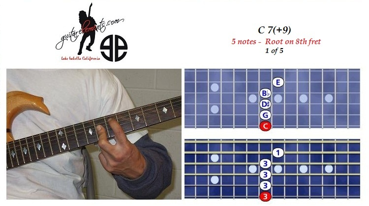 C7+9 - 5 notes - 7th fret