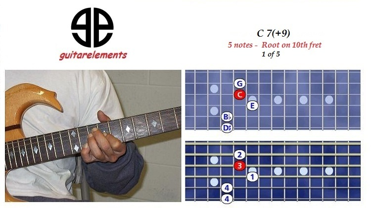 C7+9 - 5 notes - 9th fret