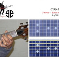 C9(+5) - 5 notes - 2nd fret